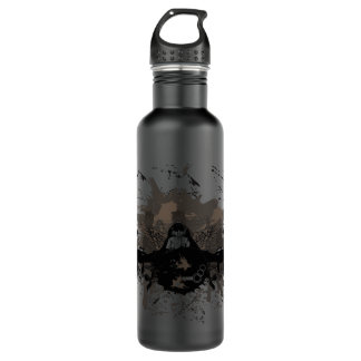 Fighter Planes with Grunge background Liberty Bott Water Bottle