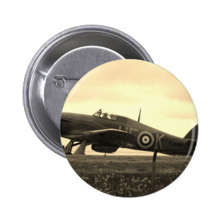 Fighter Scrambled For Take Off Pinback Button