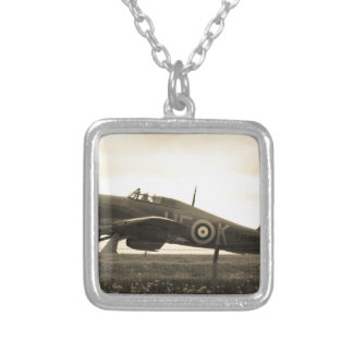 Fighter Scrambled For Take Off Silver Plated Necklace