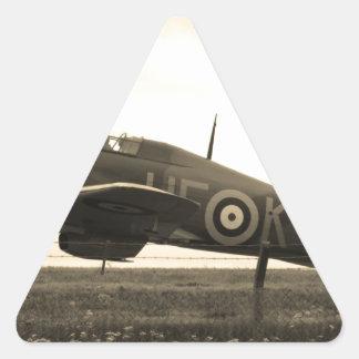 Fighter Scrambled For Take Off Triangle Sticker