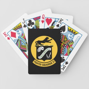 Fighter Squadron Twenty One VF-21 Bicycle Playing Cards