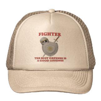 Fighter: The Best Defense Trucker Hats
