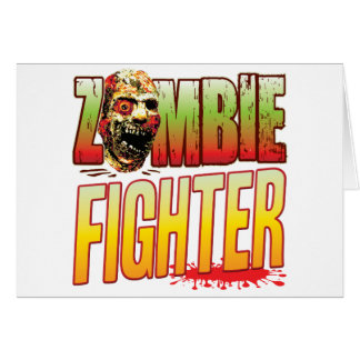 Fighter Zombie Head Card