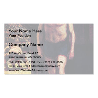 Fighters of circus by Honore Daumier Business Cards