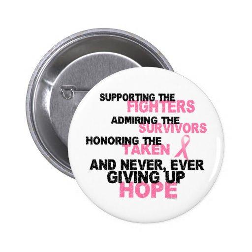 Fighters Survivors Taken 3 Breast Cancer Button