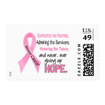 Fighters Survivors Taken Pink Ribbon Breast Cancer Postage