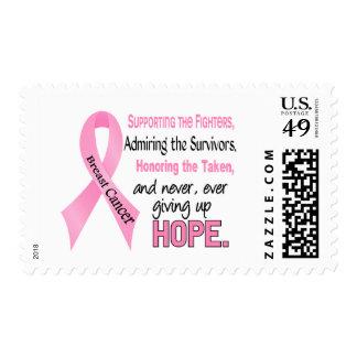 Fighters Survivors Taken Pink Ribbon Breast Cancer Postage Stamp