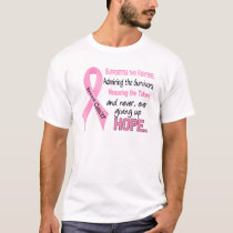 Fighters Survivors Taken Pink Ribbon Breast Cancer T-Shirt