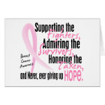 Fighters Survivors Taken Watercolor Pink Ribbon Greeting Cards