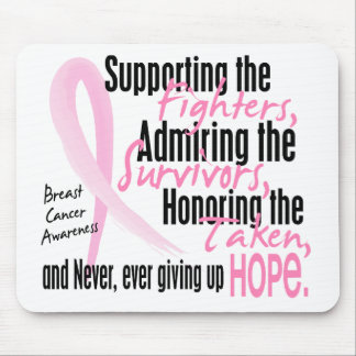Fighters Survivors Taken Watercolor Pink Ribbon Mouse Pad