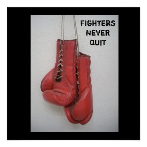 FightersNever Quit Boxing Poster