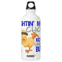 Fightin Chick Anal Cancer Water Bottle