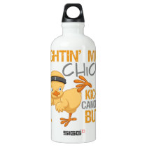 Fightin Chick Appendix Cancer Aluminum Water Bottle