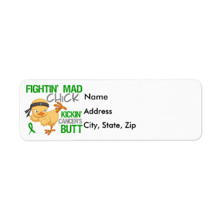 Fightin Chick Bile Duct Cancer Label