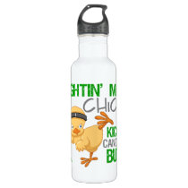 Fightin Chick Bile Duct Cancer Water Bottle