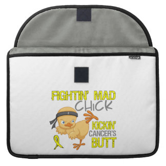 Fightin Chick Bladder Cancer Sleeves For MacBook Pro