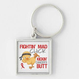 Fightin Chick Blood Cancer Key Chain