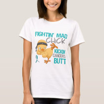 Fightin Chick Cervical Cancer T-Shirt