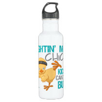 Fightin Chick Cervical Cancer Water Bottle