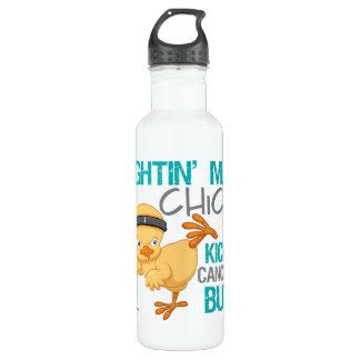 Fightin Chick Cervical Cancer Water Bottle