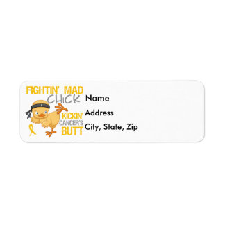 Fightin Chick Childhood Cancer Label