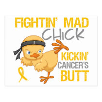 Fightin Chick Childhood Cancer Postcard