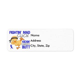 Fightin Chick Colon Cancer Label