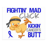 Fightin Chick Colon Cancer Postcard