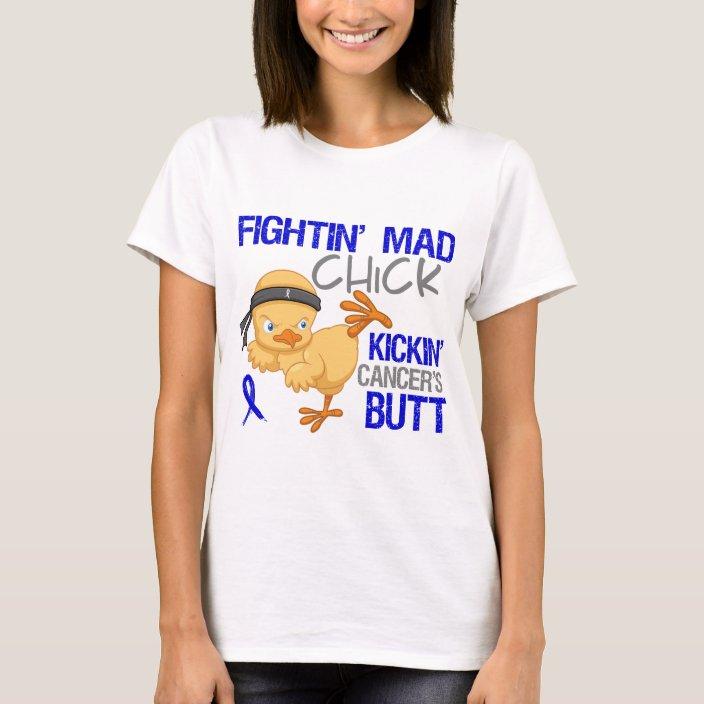 Fightin Chick Colon Cancer T Shirt Zazzle Com