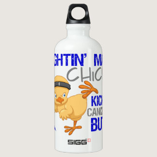 Fightin Chick Colon Cancer Water Bottle