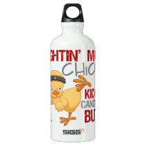Fightin Chick Head Neck Cancer Aluminum Water Bottle