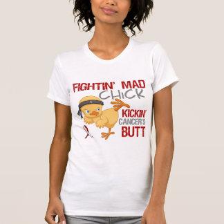 Fightin Chick Head Neck Cancer T Shirt