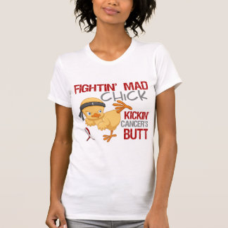Fightin Chick Head Neck Cancer T-Shirt