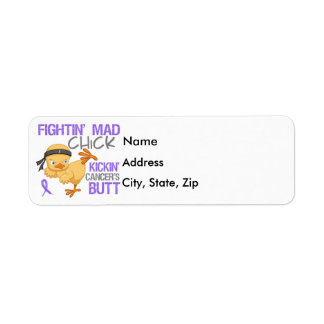 Fightin Chick Hodgkin's Disease Label