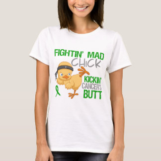Fightin Chick Kidney Cancer Green Ribbon T-Shirt