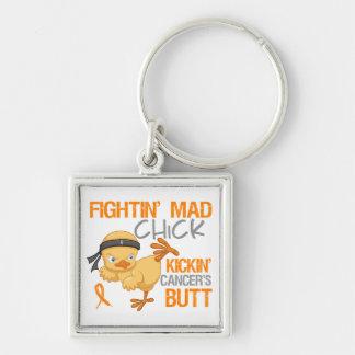 Fightin Chick Leukemia Keychain
