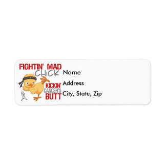 Fightin Chick Lung Cancer Labels