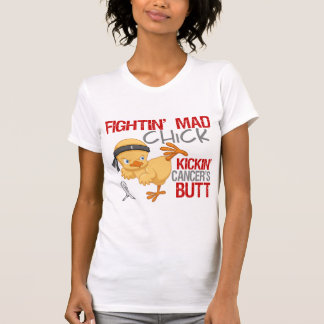 Fightin Chick Lung Cancer T Shirts
