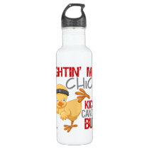 Fightin Chick Mesothelioma Stainless Steel Water Bottle
