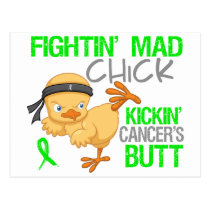Fightin Chick Non-Hodgkins Lymphoma Postcard