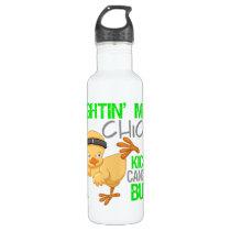 Fightin Chick Non-Hodgkins Lymphoma Water Bottle