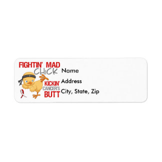 Fightin Chick Oral Cancer Label