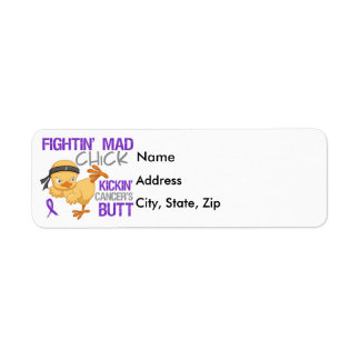 Fightin Chick Pancreatic Cancer Label