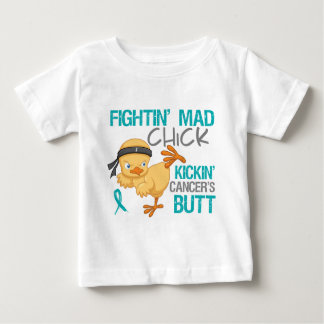 Fightin Chick Peritoneal Cancer Baby T-Shirt