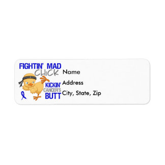 Fightin Chick Rectal Cancer Label