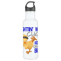 Fightin Chick Rectal Cancer Stainless Steel Water Bottle