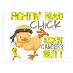 Fightin Chick Sarcoma Postcard