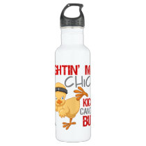 Fightin Chick Skin Cancer Stainless Steel Water Bottle