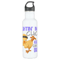 Fightin Chick Stomach Cancer Stainless Steel Water Bottle