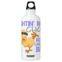 Fightin Chick Stomach Cancer Water Bottle